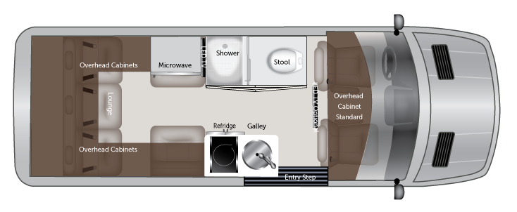 American Coach Patriot FD2 Class B motorhome layout