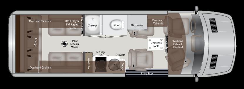 American Coach Patriot MD4 Class B motorhome layout