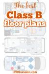 4 floor plans with text overlay: The best Class B floor plans.