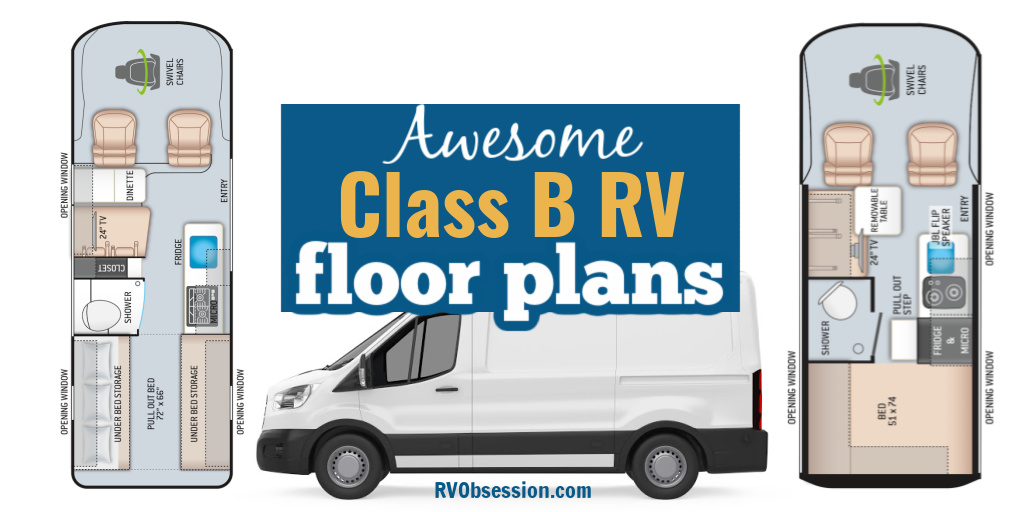 Awesome Class B RV floor plans.